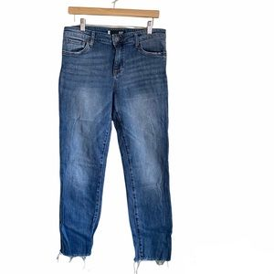 Kut From The Kloth Medium Wash Frayed Jeans 8